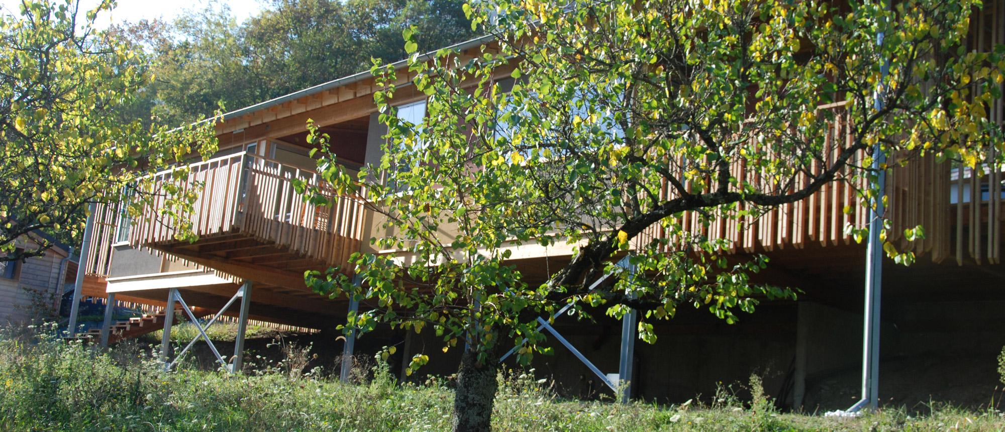 ossature bois d'une maison à Corenc